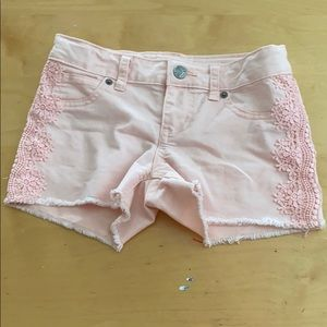Cat and jack girls pink jean shorts